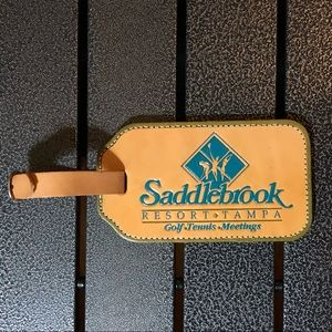 Other - Saddlebrook Leather Resort Tag